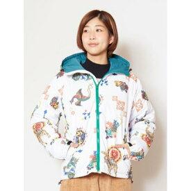【アウトレット】【チャイハネ】シルクロード中綿フードジャケット ホワイト