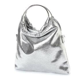 キュリビスキュイ CURI BISCUI リングハンドルメタリックバッグ (Silver)