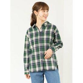 【アウトレット】グリーンパークス Green Parks カジュアルチェックBIGシャツ (Green)