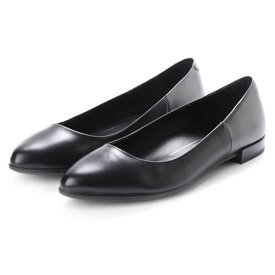 【アウトレット】エコー ECCO SHAPE POINTY BALLERINA (BLACK/BLACK DARK SHADOW METALLIC)