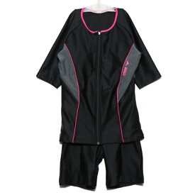 アリーナ arena レディース 水泳 フィットネス水着 大きめカラースナップ付き袖付きセパレーツ(差し込みフィットパッド) LAR-9242WE