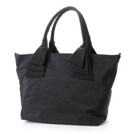 キュリビスキュイ CURI BISCUI リボンハンドルナイロントート(Lサイズ) (Black)
