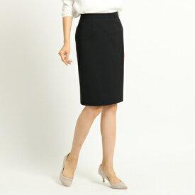 インディヴィ INDIVI ストレッチタイトスカート (ブラック)