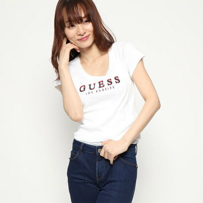 ゲス GUESS Originals RIBBED TOP (PURE WHITE)