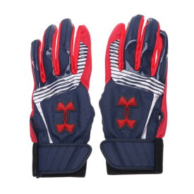 アンダーアーマー UNDER ARMOUR ジュニア 野球 バッティング用手袋 UA CLEANUP VII B GLOVE YOUTH 1313491 (ネイビー)
