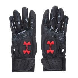 【アウトレット】アンダーアーマー UNDER ARMOUR ジュニア 野球 バッティング用手袋 UA CLEANUP VII B GLOVE YOUTH 1313491 (ブラック)