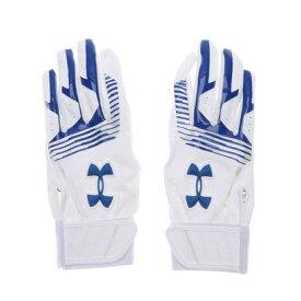 【アウトレット】アンダーアーマー UNDER ARMOUR ジュニア 野球 バッティング用手袋 UA CLEANUP VII B GLOVE YOUTH 1313491 (ホワイト)