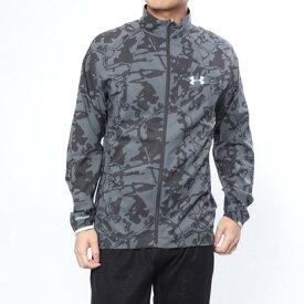 【アウトレット】アンダーアーマー UNDER ARMOUR メンズ 陸上/ランニング ウインドブレーカー UA Stretch Woven Printed Jacket 1319679