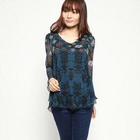 デシグアル Desigual Tシャツ長袖 (ブルー)