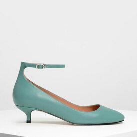 【アウトレット】エッセンシャル アンクルストラップパンプス / Essential Ankle Strap Pumps (Turquoise)