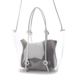 クーコ COOCO インバッグ付クリアトートバッグ (ホワイト)