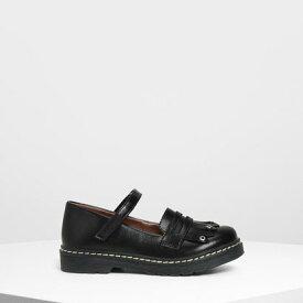 キッズフリンジディティール ローファー / Kids Fringe Detail Loafers (Black)