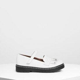 キッズフリンジディティール ローファー / Kids Fringe Detail Loafers (White)