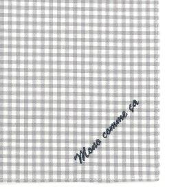 コムサイズム COMME CA ISM MONO ロゴ 刺繍 ハンカチ (グレー)