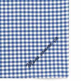 コムサイズム COMME CA ISM MONO ロゴ 刺繍 ハンカチ (ブルー)