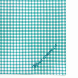 コムサイズム COMME CA ISM MONO ロゴ 刺繍 ハンカチ (ターコイズブルー)