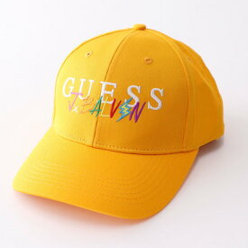 【アウトレット】ゲス GUESS GUESS x J BALVIN LOGO BASEBALL CAP (VOLTAGE YELLOW)