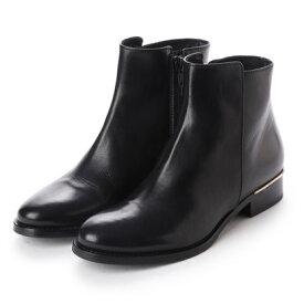 【アウトレット】ルカ グロッシ LUCA GROSSI メタルポイントスムースショートブーツ (ブラック)