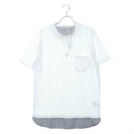 スタイルブロック STYLEBLOCK フェイクレイヤードネックレス付ビッグTシャツ (ホワイト)