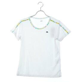 【アウトレット】エレッセ ellesse レディース テニス 半袖Tシャツ ショルダープリントティー EW09130