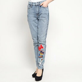 【アウトレット】ゲス GUESS GUESS Originals 1981 PATCH SKINNY DENIM PANT (ACID WASH W/ PATCHES)