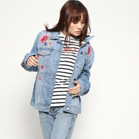 【アウトレット】ゲス GUESS 90s ICON FLORAL DENIM JACKET (LIGHT WASH)