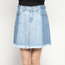 【アウトレット】ゲス GUESS CUT-OFF DENIM SKIRT (MEDIUM BLUE)