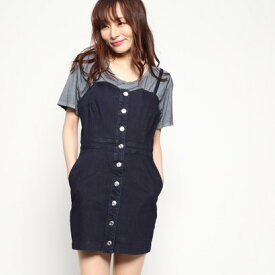 【アウトレット】ゲス GUESS DENIM ONE PIECE (DARK BLUE)