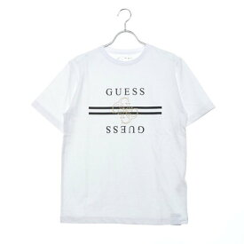 ゲス GUESS QUATRO G LINE LOGO TEE 【JAPAN EXCLUSIVE ITEM】 (WHITE)