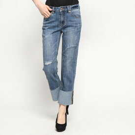 【アウトレット】ゲス GUESS ROLL UP DAMAGE DENIM PANT (LIGHT BLUE)