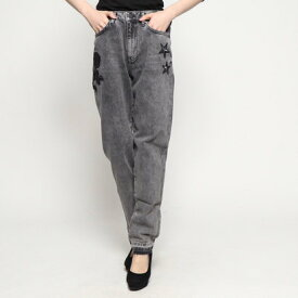 【アウトレット】ゲス GUESS EMBROIDERY MOM-FIT DENIM PANT (FREE ROSES)