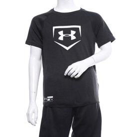 【アウトレット】アンダーアーマー UNDER ARMOUR ジュニア 野球 半袖Tシャツ UA Big Logo Youth Baseball Shirt 1331538
