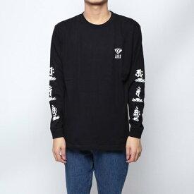 ジェイド JADE (ユニセックス) :袖ロゴ長袖Tシャツ -ブラック (BLA)
