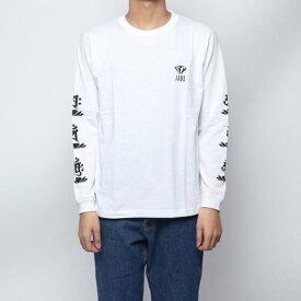 ジェイド JADE (ユニセックス) :袖ロゴ長袖Tシャツ -ホワイト (WHT)