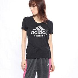 【アウトレット】アディダス adidas レディース 陸上/ランニング 半袖Tシャツ RUN logo 半袖TシャツW EC5382