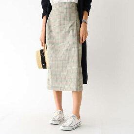 アクアガールレピスリー aquagirl/l'epicerie スプリングチェックタイトスカート (グリーン)