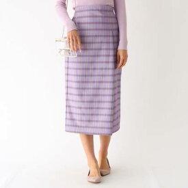 アクアガールレピスリー aquagirl/l'epicerie スプリングチェックタイトスカート (パープル)