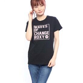 【アウトレット】ロキシー ROXY レディース 半袖Tシャツ WAVES OF CHANGE ROXY TEE RST191608Y