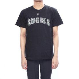 マジェスティック MAJESTIC 野球 半袖Tシャツ エンゼルス大谷 カモ柄プリントTシャツ MM08LA9002