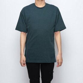 スタイルブロック STYLEBLOCK サイドZIP綿ポンチビッグTシャツ (Dグリーン)