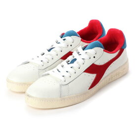 ディアドラ Diadora GAME L LOW USED (white/dark red)