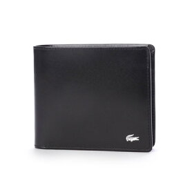 040e1ac6fbc7 ラコステ LACOSTE 二つ折り財布 (ブラック)