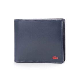 bc7d82b6744e ラコステ LACOSTE 二つ折り財布 (ネイビー)