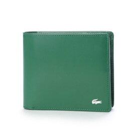 ラコステ LACOSTE 二つ折り財布 (グリーン)