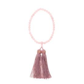 プレンドレ ラ ジョア prendre la joie 【Prendre la joie】喪服・礼服用 本紅水晶 念珠(数珠)日本製 (ピンク)
