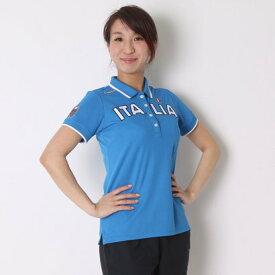 【アウトレット】カッパ Kappa ゴルフシャツ 半袖シャツ(ITALIA胸ワッペン) KG622SS83 (イタリアンブルー)