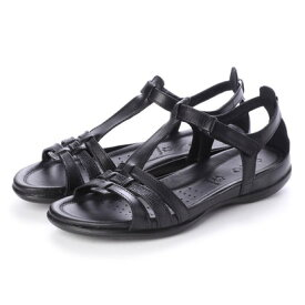 エコー ECCO Flash T-Strap Sandal (BLACK/BLACK)