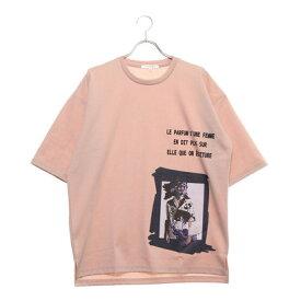 スタイルブロック STYLEBLOCK デジタルプリントビッグTシャツ (ピンク)