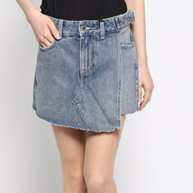 【アウトレット】ゲス GUESS WRAPOVER DENIM SHORTS (SNAP)