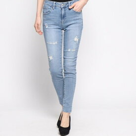 ゲス GUESS DAMAGED 1981 SKINNY DENIM PANT (LIGHT BLUE)